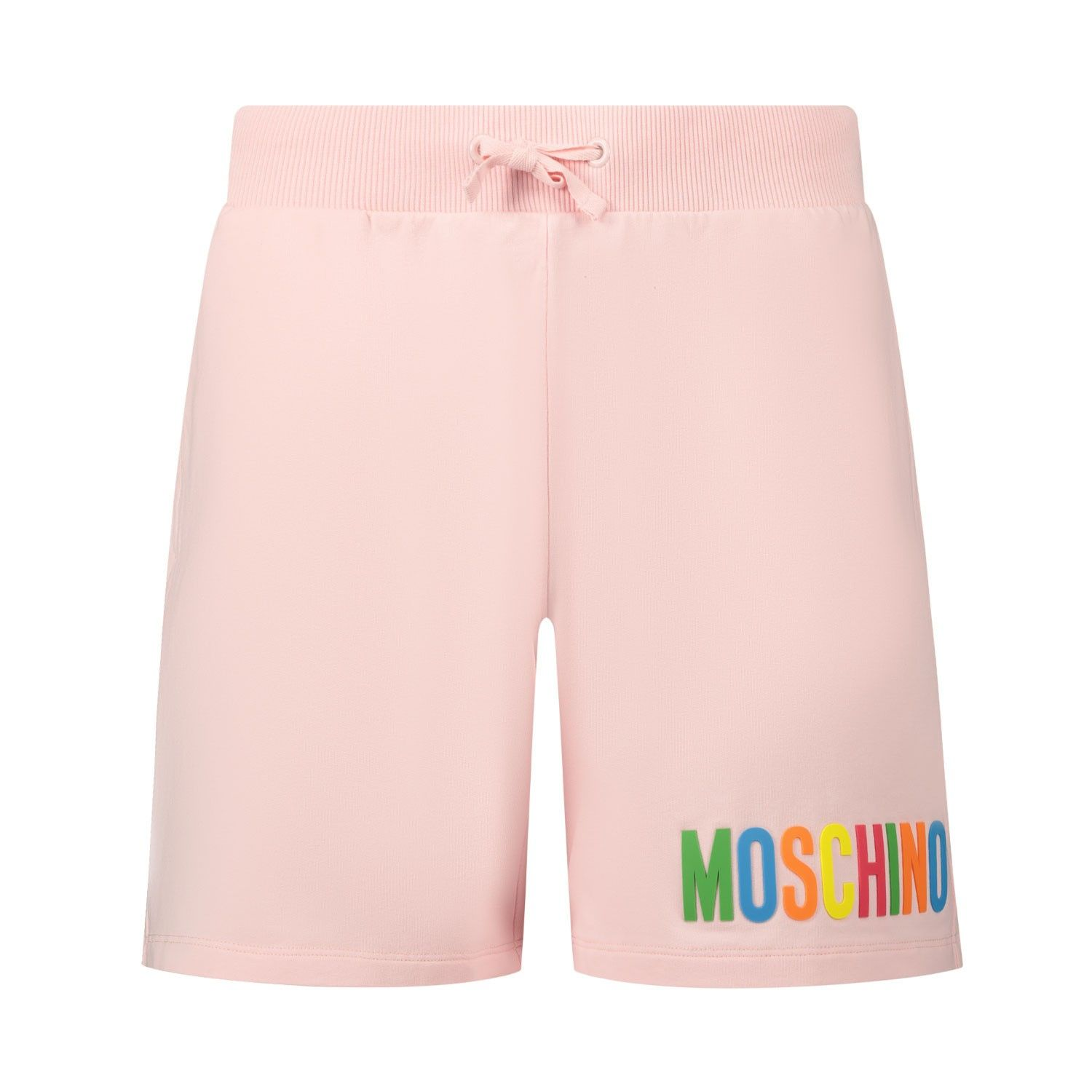 Picture of Moschino HAQ002 kids shorts light pink