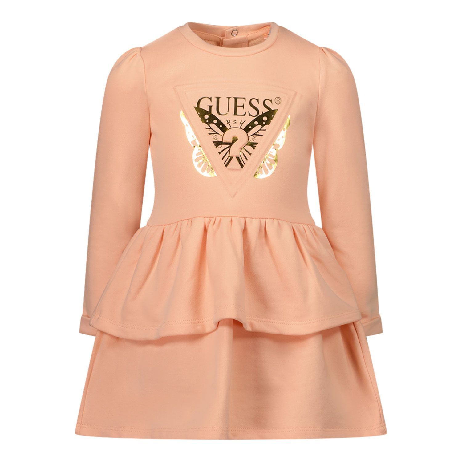 Picture of Guess A1BK16 B baby dress salmon