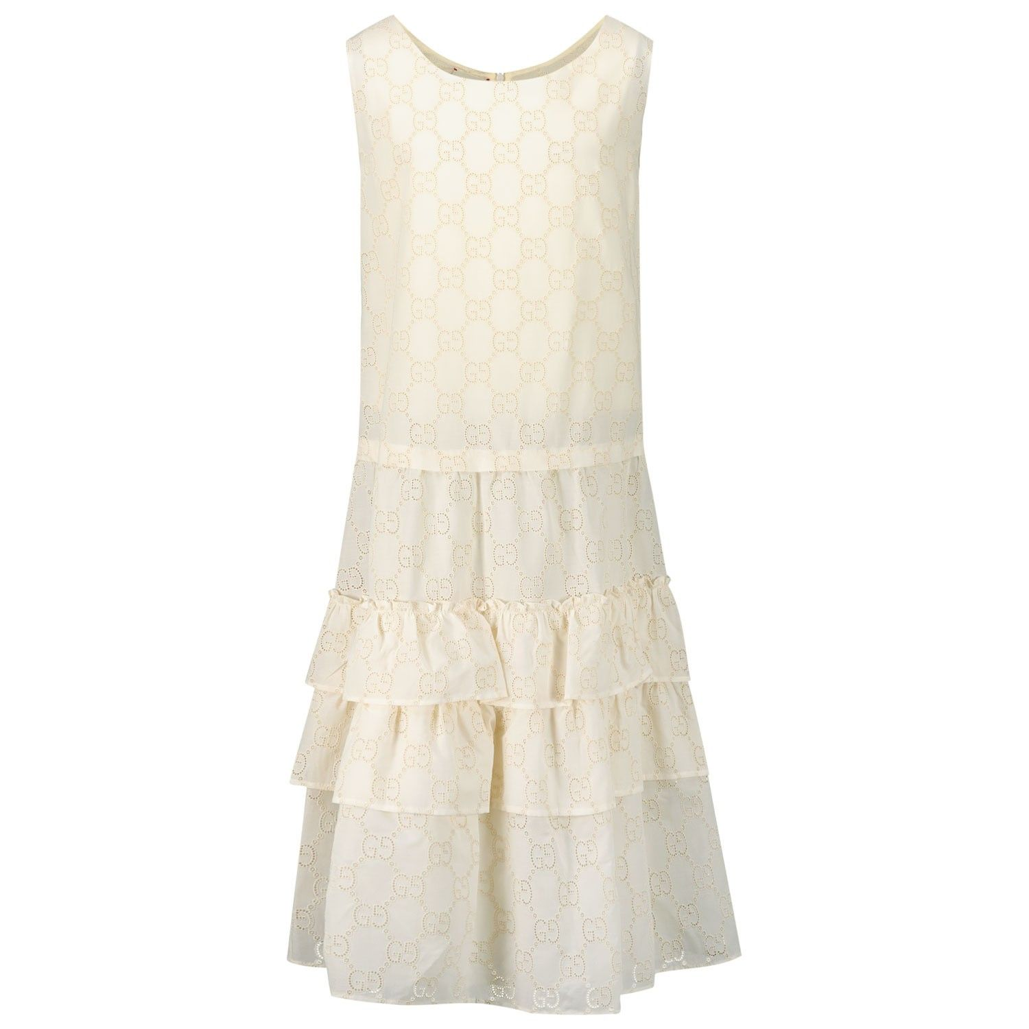 Picture of Gucci 595345 kids dress off white