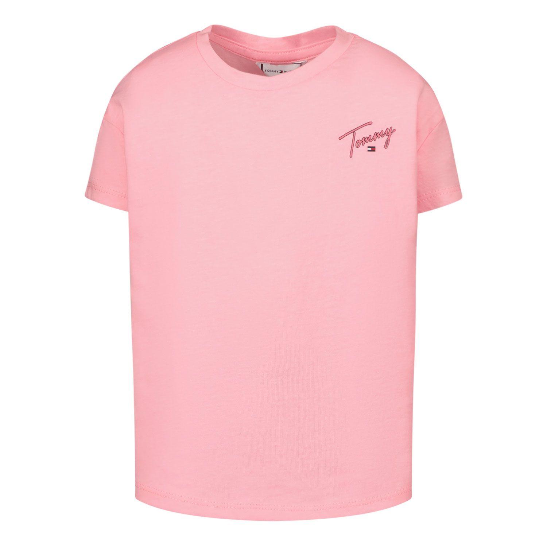 Afbeelding van Tommy Hilfiger KG0KG05873 B baby t-shirt fluor roze