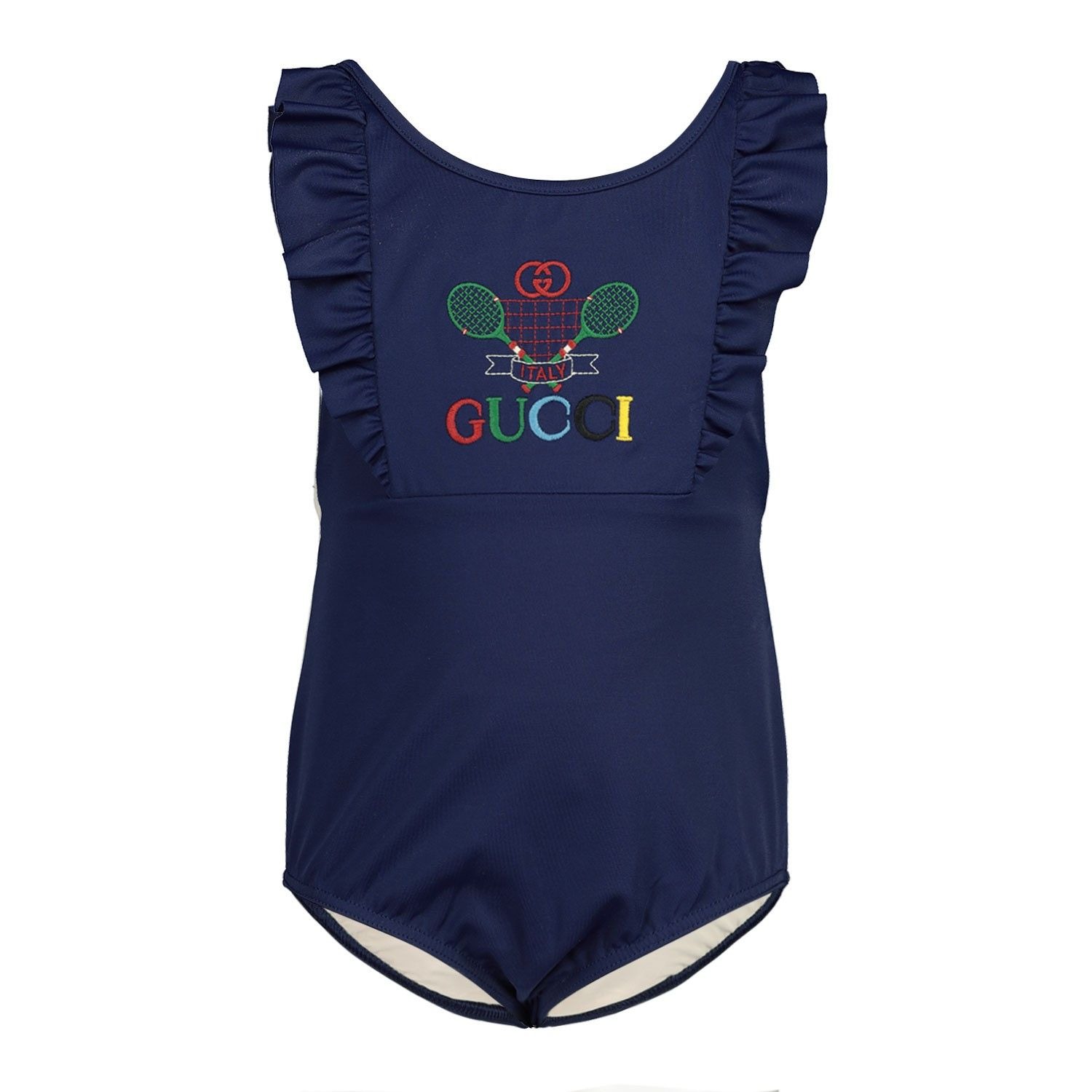 Picture of Gucci 607934 baby swimwear navy