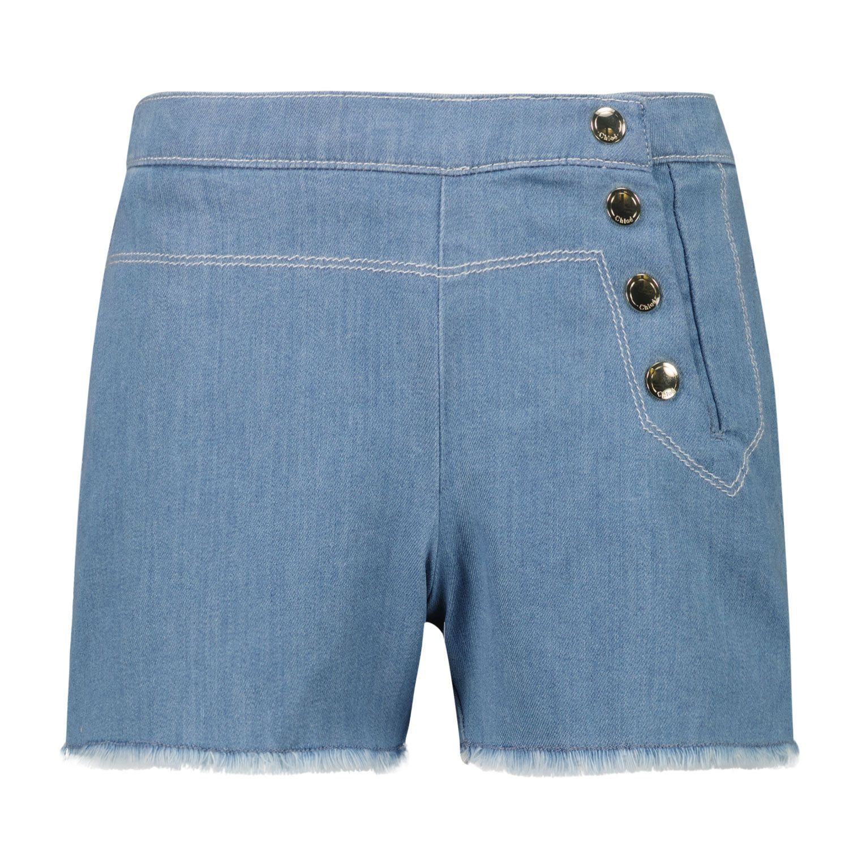 Afbeelding van Chloé C14661 kinder shorts jeans