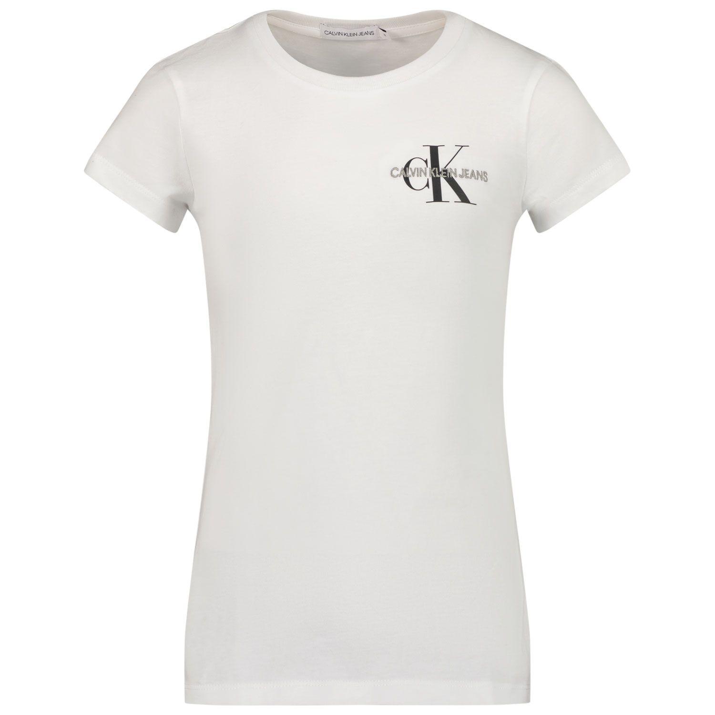 Afbeelding van Calvin Klein IG0IG00573 kinder t-shirt wit