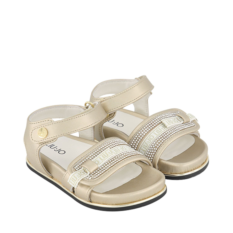 Picture of Liu Jo 4A1315 kids sandals gold