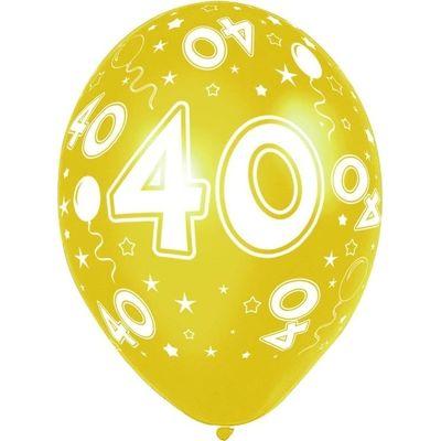 Foto van Ballonnen 40 jaar 5 stuks