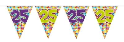 Mini Vlaggenlijn Bday Blocks 25 jaar
