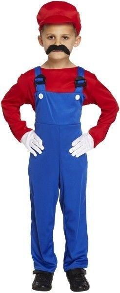 Mario kostuum kind