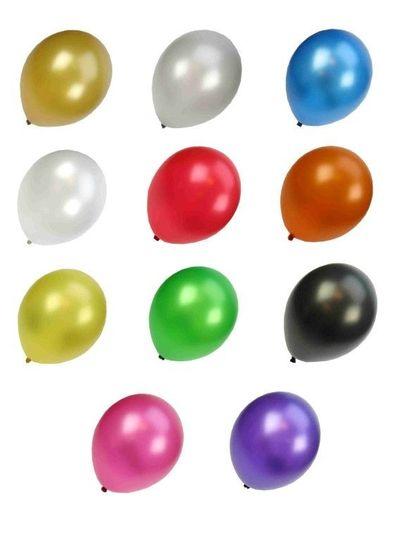 Kwaliteitsballon metallic assortie kleur per 50 (Ø 14 inch / 36 cm)