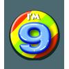 Afbeelding van Button 9 jaar