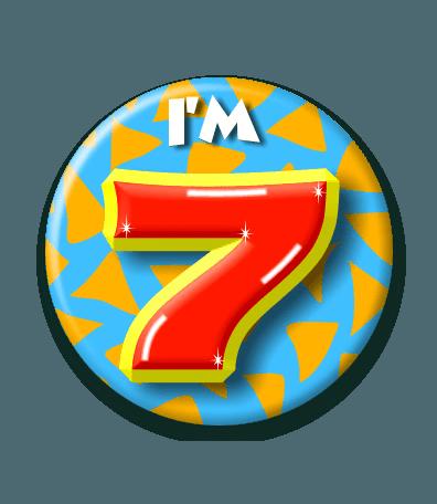 Button 7 jaar