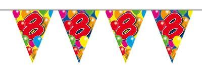 Vlaggenlijn balloons 8 jaar 10m/stk