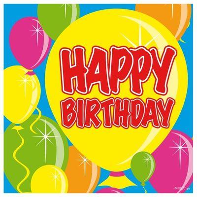 Servet Ballloons Happy Birthday/20s