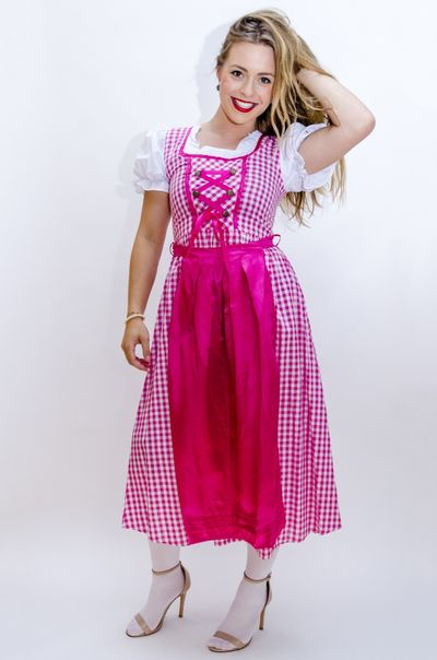 Oktoberfest jurk lang - Lena