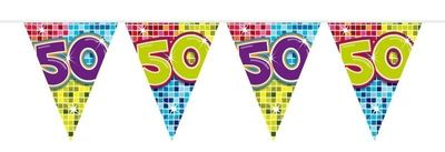 Mini Vlaggenlijn Bday Blocks 50 jaar