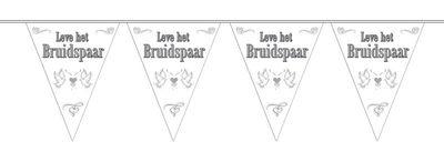 Vlaggenlijn Leve Het Bruidspaar/stk