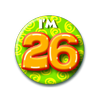 Afbeelding van Button 26 jaar