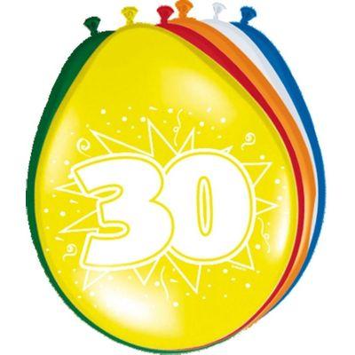 Ballonnen 30 jaar (30cm) 8st