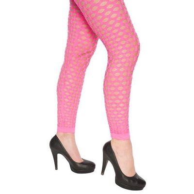 Foto van Neon legging met gaten roze