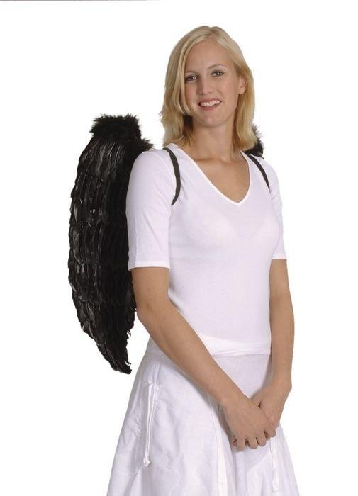 Afbeelding van Engelenvleugels zwart 65 x 65cm
