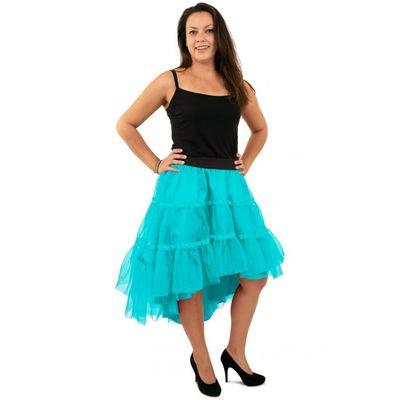 Petticoat schuin aflopend blauw