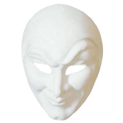 Venetiaans masker Joker grezzo wit