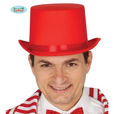 Foto van Hoge hoed rood