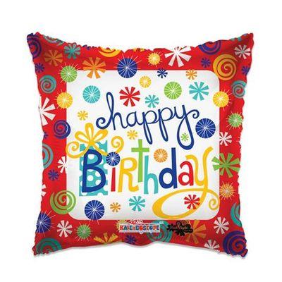Folieballon Happy Birthday rood