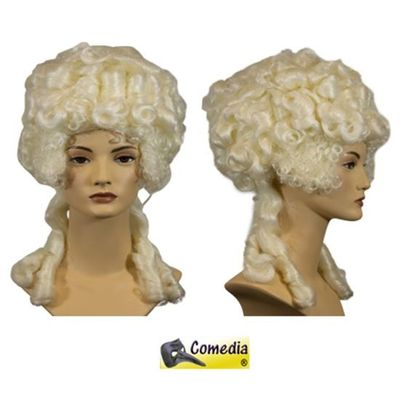 Theaterpruik Marie-Antoinette wit