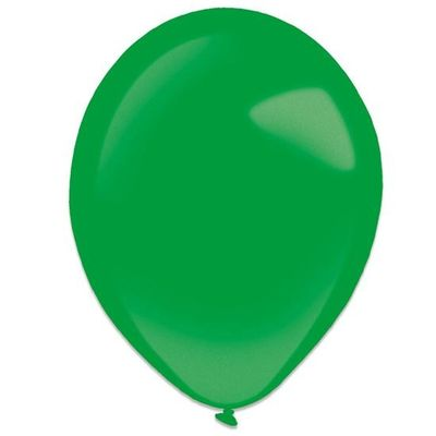 Ballonnen festive green metallic (28cm )50st