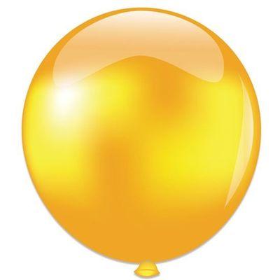 Foto van Topballon metallic goud (91cm)