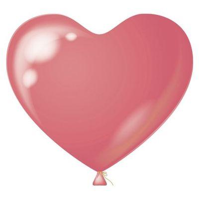 Hart Ballon roze 38CM (100 stuks)