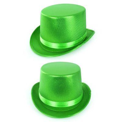 Foto van Hoge hoed metallic Groen