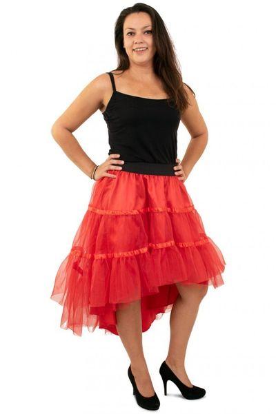 Petticoat schuin aflopend rood