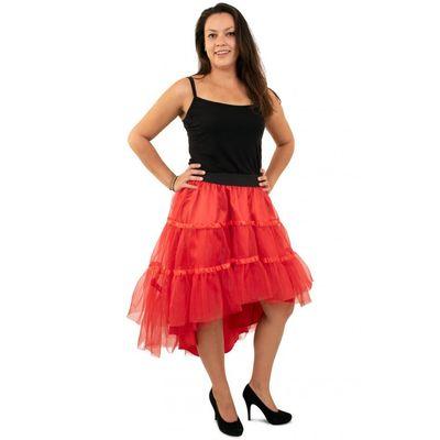 Foto van Petticoat schuin aflopend rood