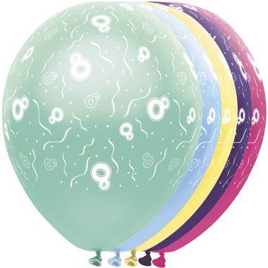 Foto van Leeftijd ballonnen 8 jaar 5 stuks