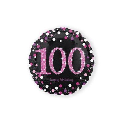 Foto van Folie ballon 100 roze