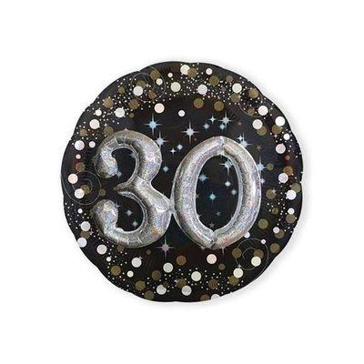 Foto van Folieballon 30 Sparkling 3D