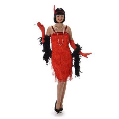 Foto van Jaren 20 jurkje rood Luxe