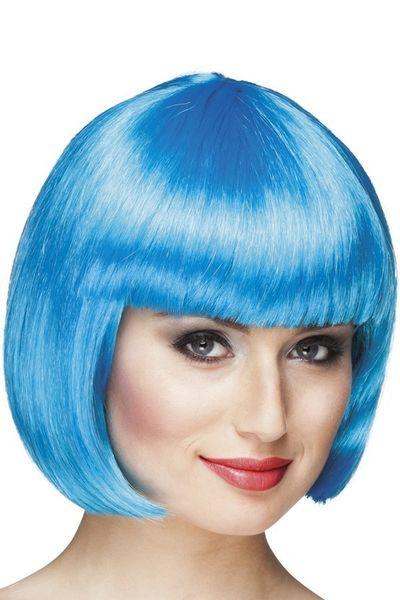 Pruik Bobline icy blue