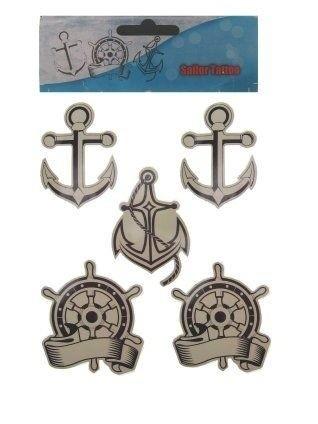 Afbeelding van Tattoo sticker sailer 3 assortie