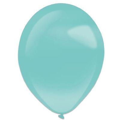 Ballonnen robin egg blue pearl (35cm) 50st