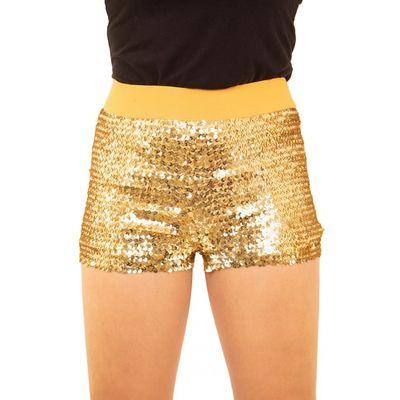Glitter broekje showgirl goud