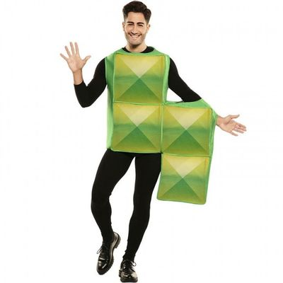 Foto van Tetris kostuum groen