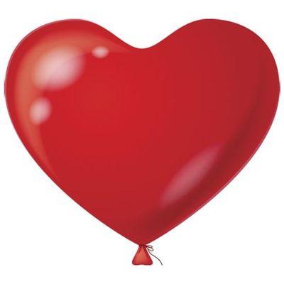 Foto van Hart Ballon rood 38CM (100 stuks)
