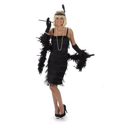 Foto van Jaren 20 jurkje zwart Luxe