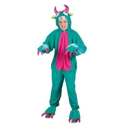 Monster onesie kind - groen
