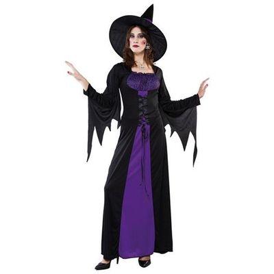 Lange heksen jurk - paars