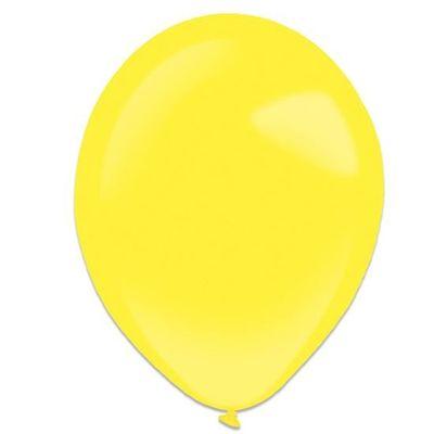Ballonnen yellow sun (28cm) 50st