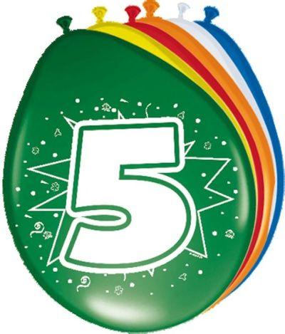 Ballonnen 5 jaar (30cm) 8st