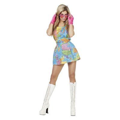 Foto van Wereldkaart jurkje - Luxe